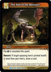 warcraft tcg black temple the fall of the betrayer