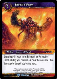 warcraft tcg tomb of the forgotten thrall s fury