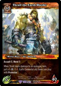 warcraft tcg tomb of the forgotten thrall the earth warder