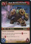 warcraft tcg icecrown thrall warchief of the horde
