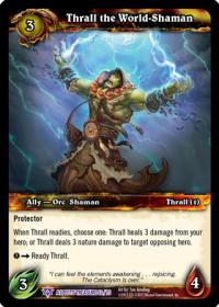 warcraft tcg battle of aspects thrall the world shaman