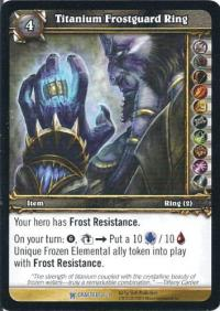 warcraft tcg crafted cards titanium frostguard ring