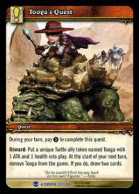 warcraft tcg heroes of azeroth tooga s quest