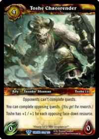 warcraft tcg throne of the tides toshe chaosrender