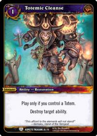 warcraft tcg battle of aspects totemic cleanse