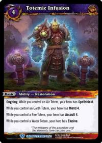 warcraft tcg caverns of time totemic infusion