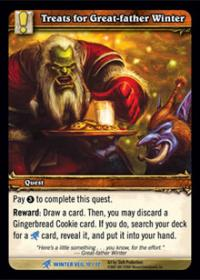 warcraft tcg feast of winter veil treats for great father winter