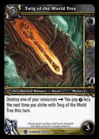warcraft tcg heroes of azeroth twig of the world tree