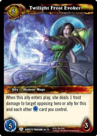 warcraft tcg battle of aspects twilight frost evoker