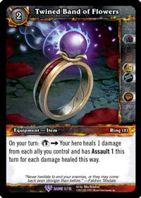 warcraft tcg crafted cards twined band of flowers