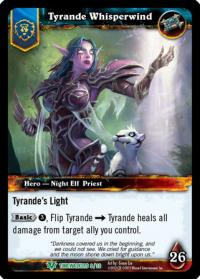 warcraft tcg foil hero cards tyrande whisperwind