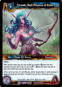 warcraft tcg crown of the heavens tyrande high priestess of elune