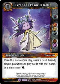 warcraft tcg crafted cards tyrande s favorite doll