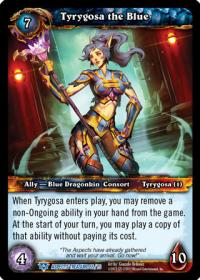 warcraft tcg battle of aspects tyrygosa the blue