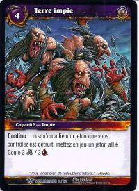 warcraft tcg worldbreaker foreign unholy ground french