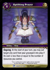 warcraft tcg fields of honor uplifting prayer