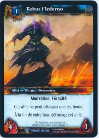 warcraft tcg twilight of dragons foreign vakus the inferno french
