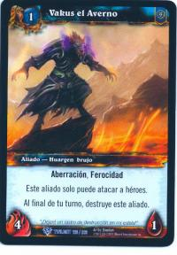 warcraft tcg twilight of dragons foreign vakus the inferno spanish