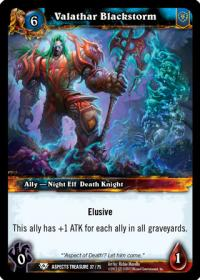 warcraft tcg battle of aspects valathar blackstorm