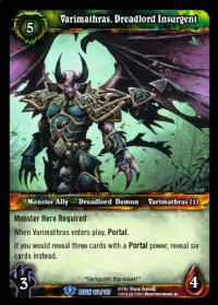 warcraft tcg reign of fire varimathras dreadlord insurgent