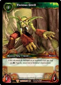 warcraft tcg loot cards vicious grell loot