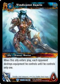 warcraft tcg throne of the tides vindicator saaris