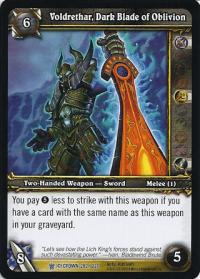 warcraft tcg icecrown voldrethar dark blade of oblivion