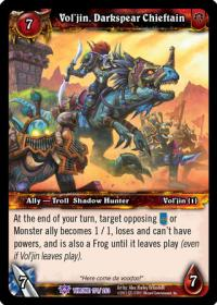warcraft tcg throne of the tides vol jin darkspear chieftain