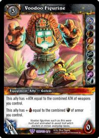 warcraft tcg crafted cards voodoo figurine