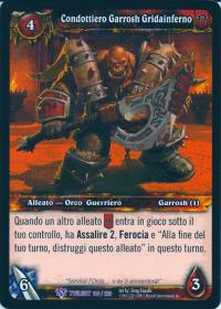warcraft tcg twilight of dragons foreign warchief garrosh hellscream italian