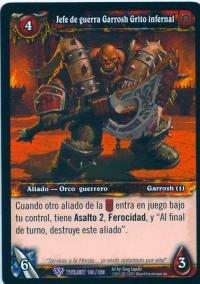 warcraft tcg twilight of dragons foreign warchief garrosh hellscream spanish
