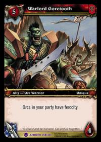 warcraft tcg heroes of azeroth warlord goretooth