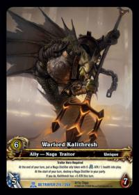 warcraft tcg extended art warlord kalithresh ea