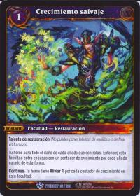 warcraft tcg twilight of dragons foreign wild growth spanish