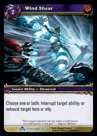 warcraft tcg scourgewar wind shear