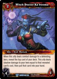 warcraft tcg crown of the heavens witch doctor ka booma