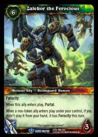warcraft tcg reign of fire zalekor the ferocious