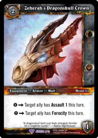 warcraft tcg crafted cards zeherah s dragonskull crown