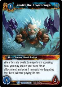 warcraft tcg throne of the tides zintix the frostbringer
