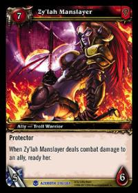 warcraft tcg heroes of azeroth zy lah manslayer