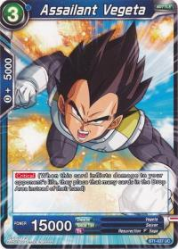 dragonball super card game bt1 galactic battle assailant vegeta bt1 037 uc