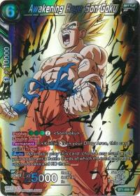 dragonball super card game bt1 galactic battle awakening rage son goku bt1 059 sr
