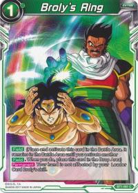 dragonball super card game bt1 galactic battle broly s ring bt1 061 c