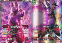 dragonball super card game bt1 galactic battle god of destruction champa bt1 001 r