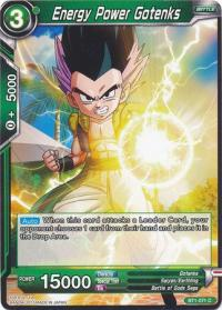 dragonball super card game bt1 galactic battle energy power gotenks bt1 071 c
