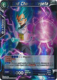 dragonball super card game bt1 galactic battle god charge vegeta bt1 036 r