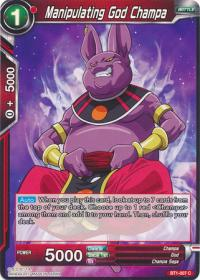 dragonball super card game bt1 galactic battle manipulating god champa bt1 007 c