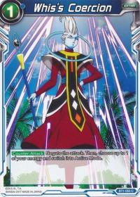 dragonball super card game bt1 galactic battle whis s coercion bt1 055 c