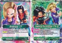 dragonball super card game bt2 union force android 17 diabolical duo androids 17 18 bt2 070 uc