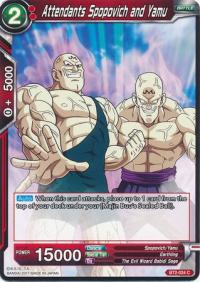 dragonball super card game bt2 union force attendants spopovich and yamu bt2 024 c